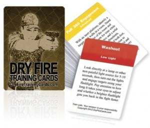 Dry Fire Training Cards-Click For Full Size