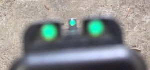 Gip precision mark on my Glock front sight